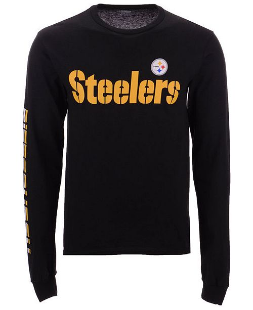 ... Authentic NFL Apparel Men s Pittsburgh Steelers Streak Route Long  Sleeve T-Shirt ... d49a8022a