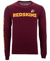 Authentic NFL Apparel Men s Washington Redskins Streak Route Long Sleeve T- Shirt 3024c543f