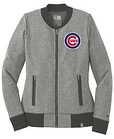 New Era Women's Chicago Cubs French Terry Full-Zip Jacket
