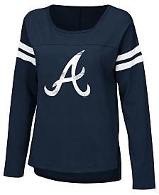 Touch by Alyssa Milano Women's Atlanta Braves Free Agent Long Sleeve T-Shirt