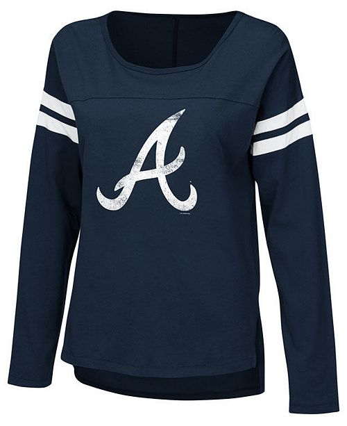 Touch by Alyssa Milano Women's Atlanta Braves Free Agent Long Sleeve T-Shirt