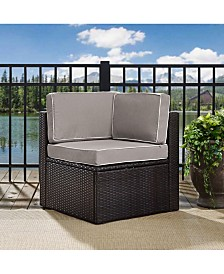 Palm Harbor Outdoor Wicker Corner Chair With Cushions