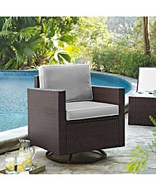 Palm Harbor Outdoor Wicker Swivel Rocker Chair With Cushions