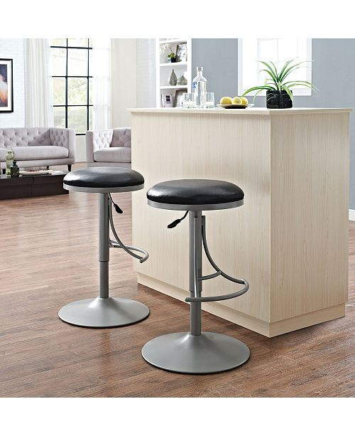 Crosley Jasper Backless Swivel Counter Stool With Cushion