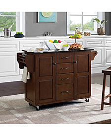 Eleanor Granite Top Kitchen Cart