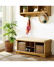 Brennan Entryway Storage Bench And Shelf