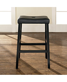 """Upholstered Saddle Seat Bar Stool With 29"""" Seat Height (Set Of 2)"""