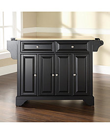 Lafayette Natural Wood Top Kitchen Island