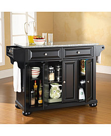 Alexandria Solid Granite Top Kitchen Island