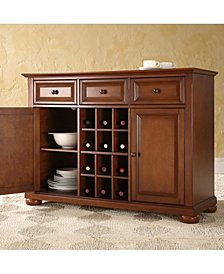 Alexandria Buffet Server Sideboard Cabinet With Wine Storage