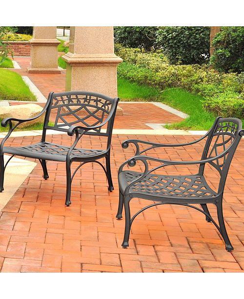 Crosley Sedona 2 Piece Cast Aluminum Outdoor Conversation Seating Set - 2 Club Chairs