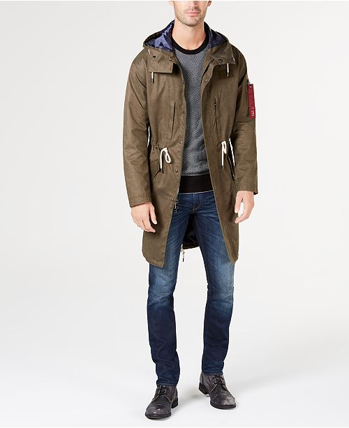 5fe9f6d3851 Michael Kors Men s Canvas Hooded Anorak   Reviews - Coats ...