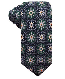 Tasso Elba Men's Medallion Wool Tie, Created for Macy's