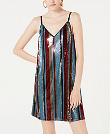 As U Wish Juniors' Sequin Tank Dress