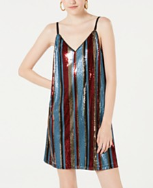 As U Wish Juniors' Sequin Tank Dress