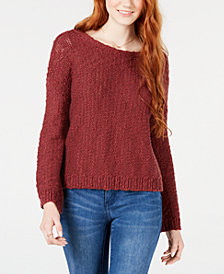 Roxy Juniors' Cotton Open-Back Sweater