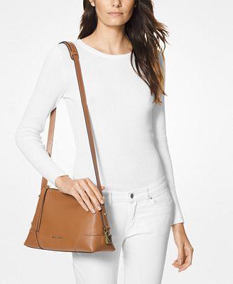 MICHAEL Michael Kors Crosby Pebble Leather Messenger Shoulder Bag