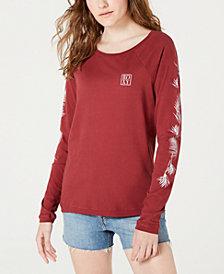 Roxy Juniors' Cotton Graphic-Print Raglan T-Shirt