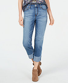 Style & Co High-Rise Cuffed Boyfriend Jeans, Created for Macy's
