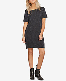 Volcom Juniors' Metallic T-Shirt Sweater Dress