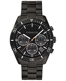 Men's Chronograph Thompson Sport Black Stainless Steel Bracelet Watch 41mm