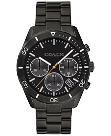 COACH Men's Chronograph Thompson Sport Black Stainless Steel Bracelet Watch 41mm