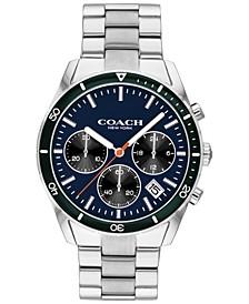 Men's Chronograph Thompson Sport Stainless Steel Bracelet Watch 41mm
