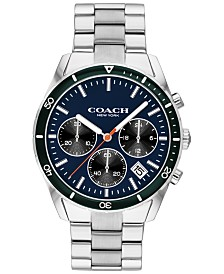 COACH Men's Chronograph Thompson Sport Stainless Steel Bracelet Watch 41mm
