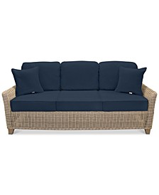 Willough Wicker Outdoor Sofa: with Custom Sunbrella® Colors, Created for Macy's