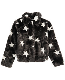 Epic Threads Big Girls Faux Fur Star Jacket, Created for Macy's