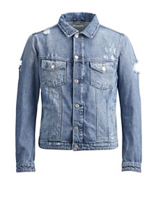 JACK & JONES Men's Jeans Ripped Jacket