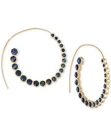 RACHEL Rachel Roy Gold-Tone Crystal Spiral Hoop Earrings