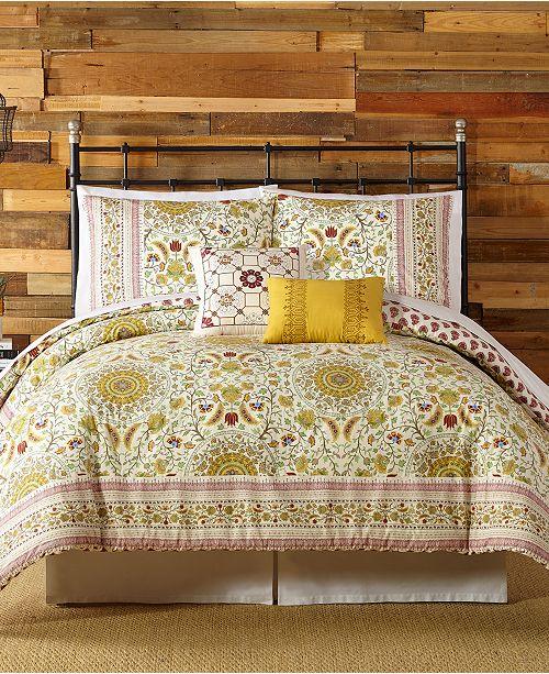 Peking Indigo Bazaar Joanne Queen Comforter Set - 5 Piece