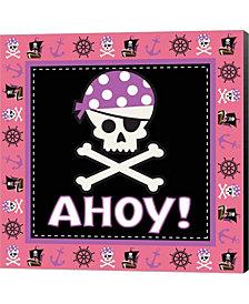 Ahoy Pirate Girl III By Nd Art & Design Canvas Art