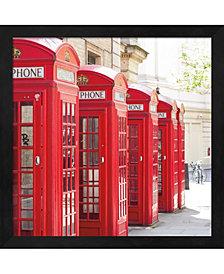 Covent Garden Phone By Keri Bevan Framed Art