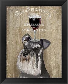 Dog Au Vin Schnauzer by Fab Funky Framed Art