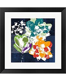 Colorful Succulent1 by Linda Woods Framed Art