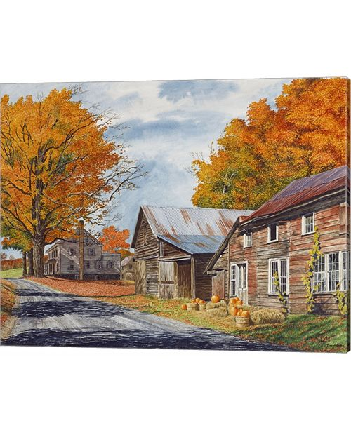 Metaverse October Country Driv By Michael Davidoff Canvas Art