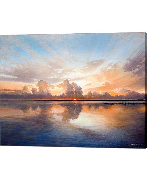Metaverse Sunset Over Lake By Bruce Nawrocke Canvas Art