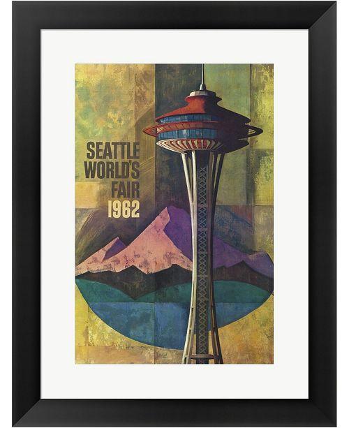 Metaverse Seattle Worlds Fair By Lantern Press Framed Art
