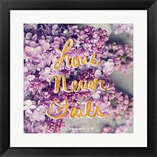 Love Never Fails by Sarah Gardner Framed Art