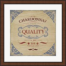 Chardonnay By Posters International Studio Framed Art