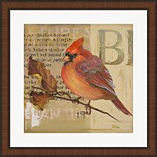 Red Love Birds I by Patricia Pinto Framed Art