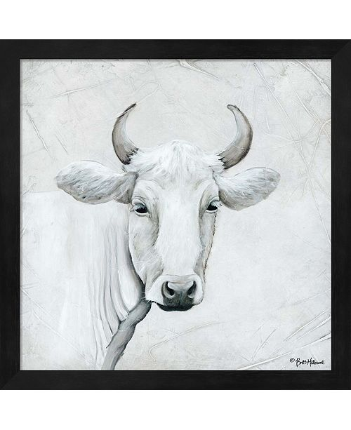 Metaverse January Cow I By Britt Hallowell Framed Art