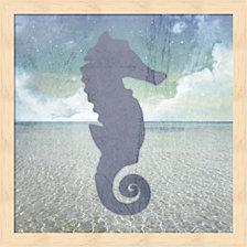 Beach Signs Seahorse By Lightboxjournal Framed Art