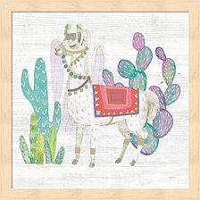 Lovely Llamas V By Mary Urban Framed Art