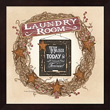 Laundry Room Wreath By Linda Spivey Framed Art