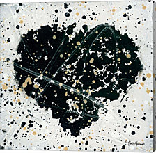 Emotions Scenes Black Heart by Britt Hallowell Canvas Art