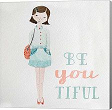 Be Girl I by Sarah Gardner Canvas Art