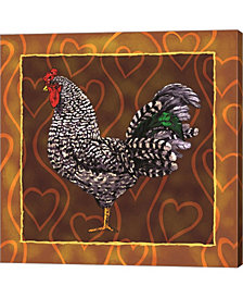 Rooster 3 By Jeff Maraska Canvas Art